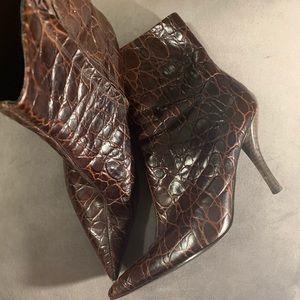 Nine West Haven Ankle Boots Heels Gator Print